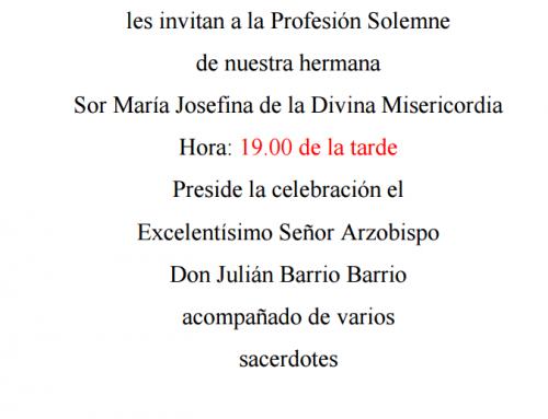 PROFESION SOLEMNE 28 DE MAYO
