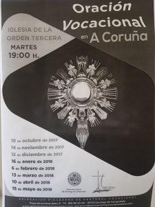 Oración Vocacional en A Coruña