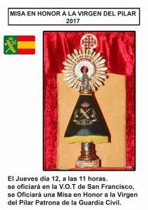 Misa en Honor a la Virgen del Pilar 12 de Octubre