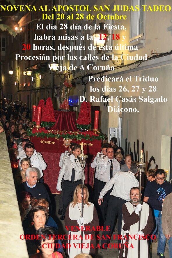 NOVENA AL APOSTOL SAN JUDAS TADEO DEL 20 AL 28 DE OCTUBRE