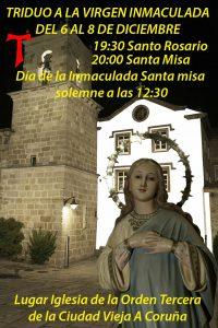 Triduo a la Virgen Inmaculada: 6 al 8 de Diciembre