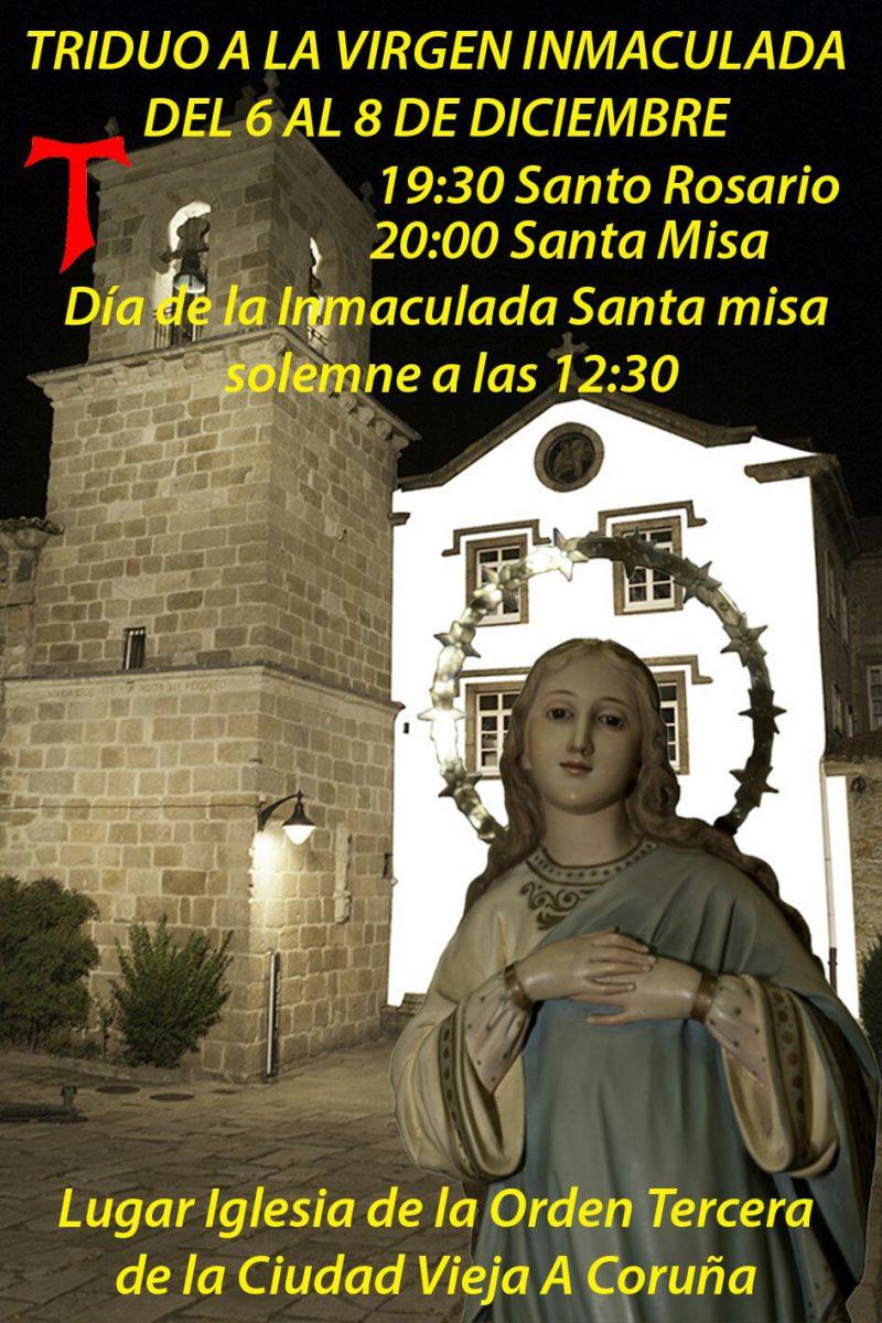 Triduo a la Virgen Inmaculada