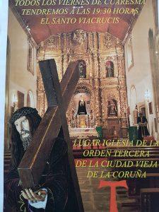 TODOS LOS VIERNES DE CUARESMA TENDREMOS A LAS 19:30 EL SANTO VIACRUCIS