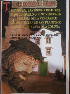 NOVENA AL SANTÍSIMO CRISTO DEL BUEN CONSUELO DEL 25 DE ABRIL AL 3 DE MAYO