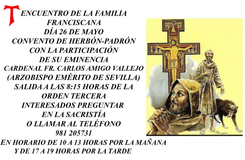 Banner Encuentro de la familia franciscana