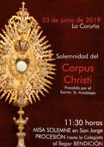 SOLEMNIDAD DEL CORPUS CHRISTI - 23 de junio de 2019