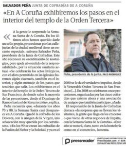 """""""EN A CORUÑA EXIBIERON LOS PASOS EN EL INTERIOR DEL TEMPLO DE LA ORDEN TERCERA"""""""